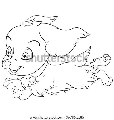 Cartoon Spaniel Puppy Dog Symbol 2018 Stock Vector