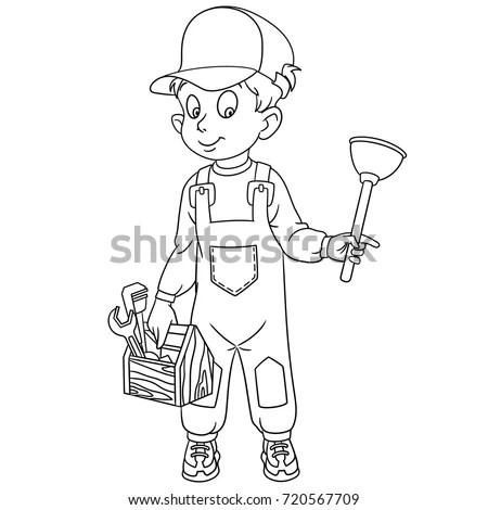 Cartoon Working People Set Collection Professions Stock