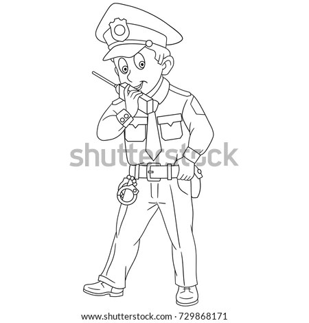 Policeman With Radio Stock Images, Royalty-Free Images
