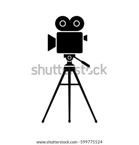 Movie Camera Vector Icon Isolated Object Stock Vector