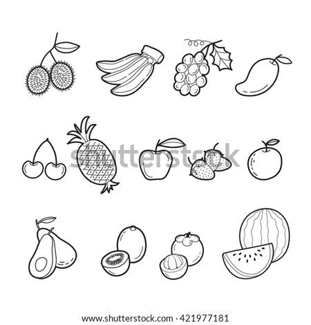 Vector Illustration Fruits Stock Vector 256065010