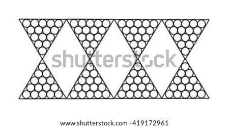 Cut Out Template Lamp Candle Holder Stock Vector 607170884