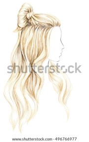 girl long blond hair woman hairstyle