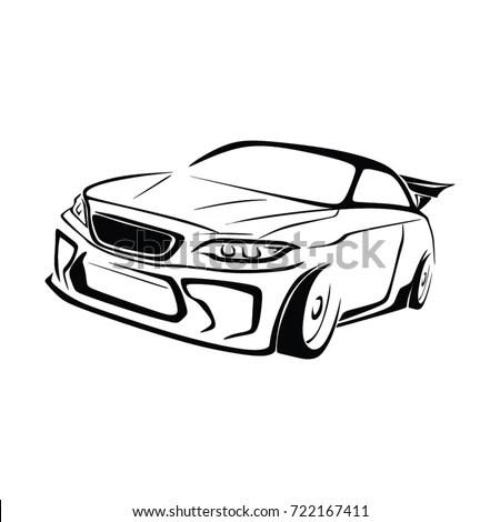 SPORT CAR RACE CAR VECTOR เวกเตอร์สต็อก (ปลอดค่าลิขสิทธิ์