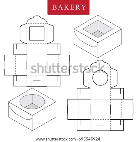Package Bakeryvector Illustration Boxpackage Template