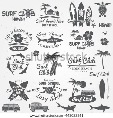 Summer Vacation Hawaii Black White Sign Stock Vector