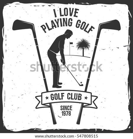 Golf Logo Stock Photos, Royalty-Free Images & Vectors