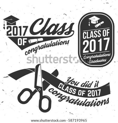Vector Class 2017 Badge Concept Shirt Stock Vector