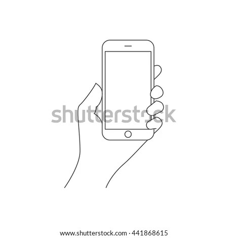 Hand Outline Stock Photos, Royalty-Free Images & Vectors