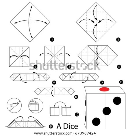 Step By Step Instructions How Make Stock Vector 670989424