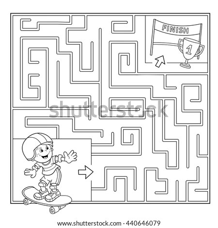 Real Estate Home Finder Maze Home Stock Vector 23878864