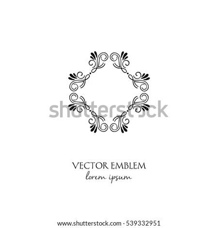 Simple Elegant Monogram Design Template Letter Stock