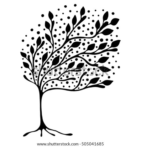 Music Tree Shadow Vector Illustration Stock Vector