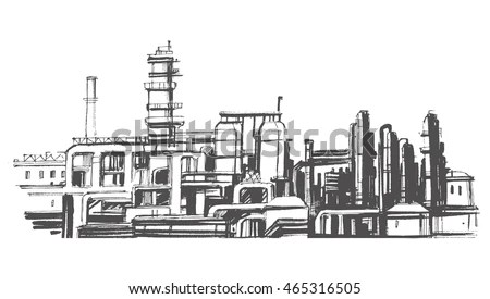 Abstract Industrial Manufacturing Plant Scene Ambient