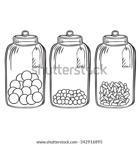 Candy Jar Stock Images, Royalty-Free Images & Vectors