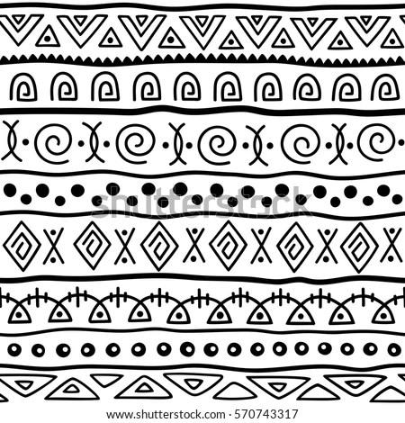 Seamless Pattern Ethnic Style Ornamental Element Stock