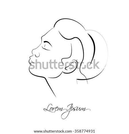 Design Elements Barber Shop Women Hairstyle Stock Vector