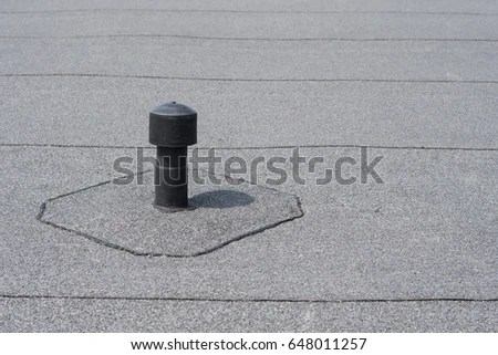 Roof Ventilation Aerator Flat Roof Ventilation Stock Photo