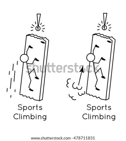 Cartoon Rock Climbing Ropes Fotografie, snímky pro členy