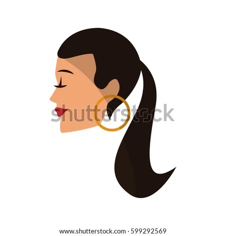 Hair Design Logo Female Silhouette Funky Stock Vector 9456724  Shutterstock