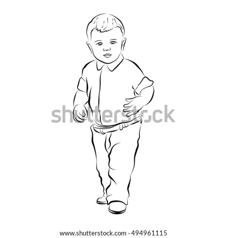 Children Clothes For Silhouettes Stock Photos, Royalty