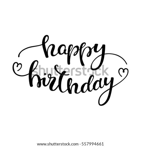 Happy Birthday Calligraphy Stock Images, Royalty-Free