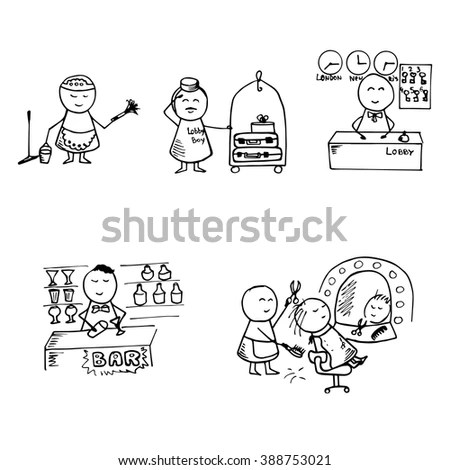 Pervert Stalker Physco Molester Flasher Stick Stock Vector
