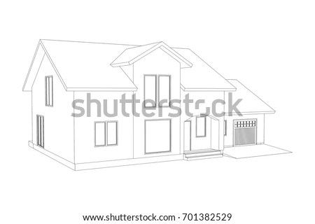 House Outline Stock Images, Royalty-Free Images & Vectors