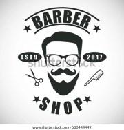 logo barber hair salon hipster