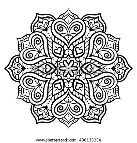 Vector Illustration Design Element Circuit Mandala Stock