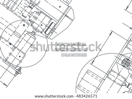 Architectural Drawings On Light Background Vector Stock
