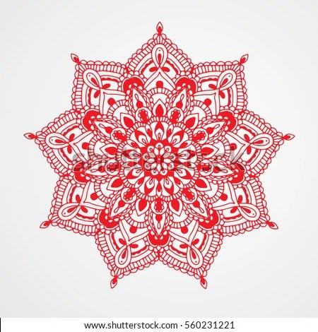 Red Mandala Stock Images RoyaltyFree Images Vectors