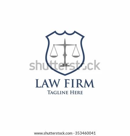 Vector Linear Logo Icon Lawyer Stock Vector 254992366