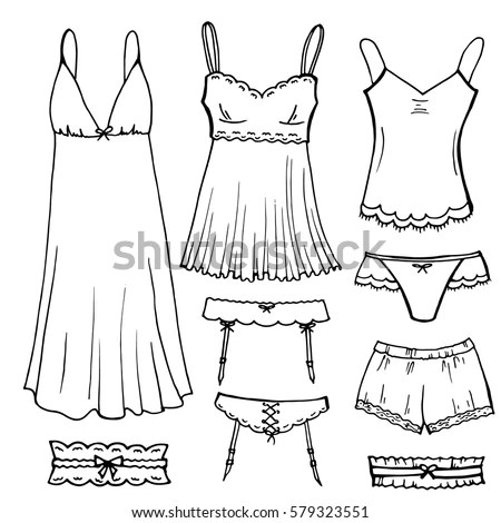 Underwear Sketch Stock Images, Royalty-Free Images