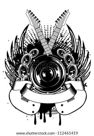 Vector Illustration Skull Hat Sheriff Star Stock Vector