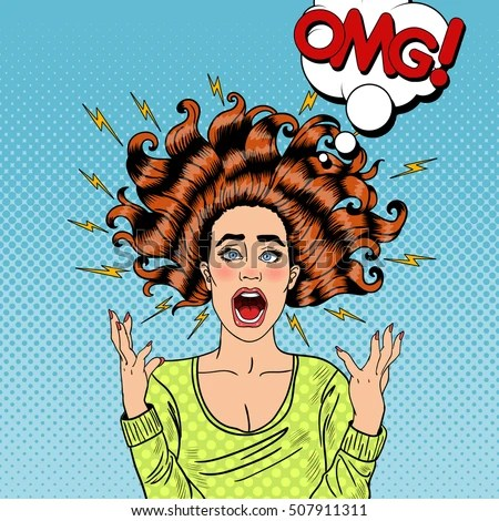 Image result for cartoon of a crazy woman