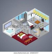 Modern Duplex Apartment Interior Living Room Stock Vector ...