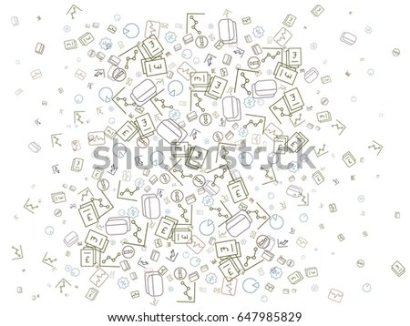 Science Doodles Seamless Background Stock Vector 128878660