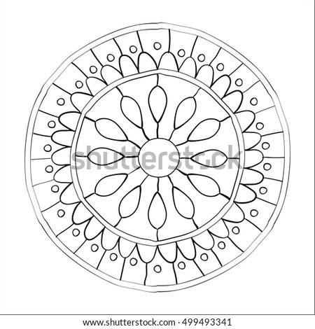 Flower Mandala Vintage Decorative Elements Oriental Stock