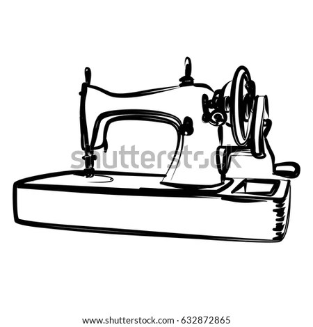 Sewing Machine Print Stock Images, Royalty-Free Images