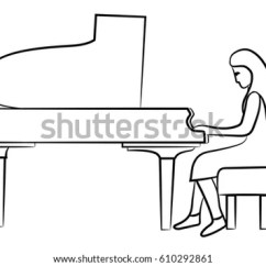 Classical Guitar Chair Dining Room Covers Nz Line Drawing Grand Piano Open Lid Stock Vector 549698482 - Shutterstock