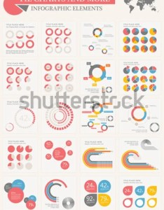 Vector pie chart infographic elements set flat design world map with various of also stock royalty free rh shutterstock