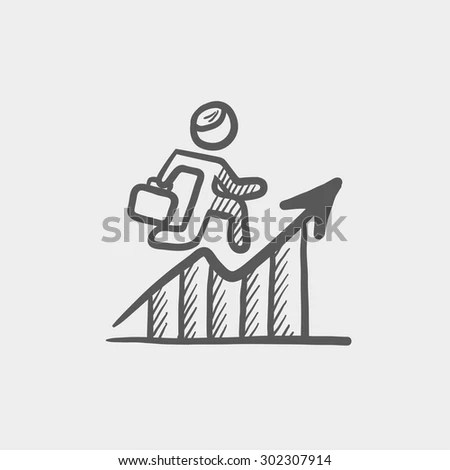 Financial Recovery Sketch Icon Web Mobile Stock Vector