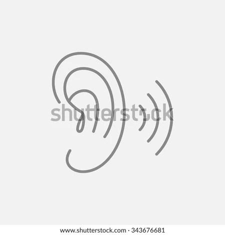 Ear Hearing Aid Icon Volume Increase Stock Vector