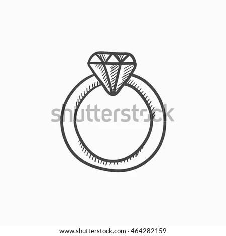 Diamond Ring Sketch Stock Images RoyaltyFree Images