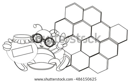 Bee With Glasses Stock Images, Royalty-Free Images