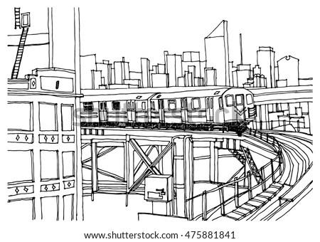 Metro Train Stock Photos, Royalty-Free Images & Vectors