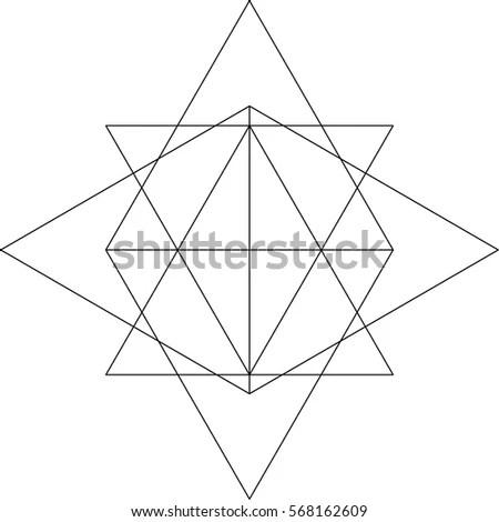 Icosahedron Vector Illustration Stock Vector 327019823