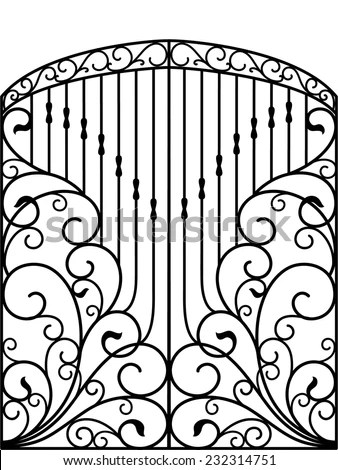 Wrought Iron Gate Stock Photos, Images, & Pictures