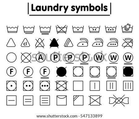 Laundry Symbols Stock Images, Royalty-Free Images